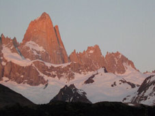Mt. Fitz Roy at sunrise -  Intense Trekking Patagonia trails (VAT) with Patagonia Adventure Trip