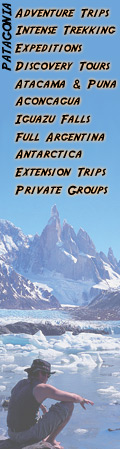 Patagonia Adventure Trip - Relax in the glaciers´ deep blue ice. Outdoor travel, trekking Patagonia