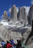 Paine Towers at Torres del Paine, Chile - Hiking Paine W with Patagonia Adventure Trip